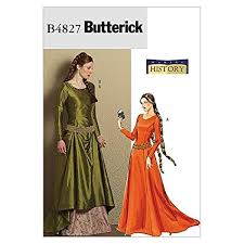 Medieval Dress Patterns Classy Amazon Butterick Patterns B48 Misses' Medieval Dress And Belt