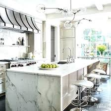 quartz waterfall marble on island white s countertop cost