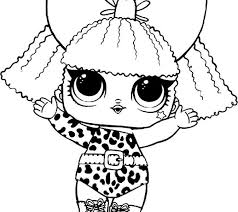 Flower Child Series 3 Lol Surprise Doll Coloring Page Digital