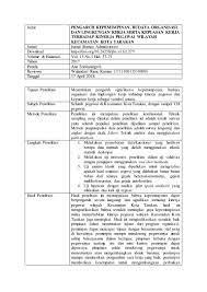 Nama penulis fitria ismali (universitas negeri gorontalo) c. Contoh Review Jurnal Ilmiah Pengaruh Kepemimpinan Budaya Organisasi