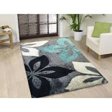 introducing gray and turquoise rug hand tufted grey area 5 x 7 fl