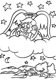 Small Picture Angel Coloring Page Christmas Simple AZ Coloring Pages Angel