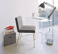 acrylic office desk. Office Statement, Try Using An Acrylic Console Table As A Desk. The Peekaboo Clear Has Simple Bent Form That Provides Surface Big Enough For Desk L