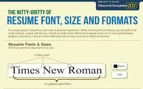 Standard Resume Font Size Resume For Study