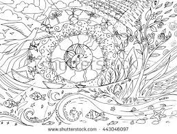 seasons day and night nature coloring book page for older children and s