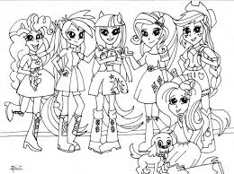 Coloring Pages Of My Little Pony Equestria Girls Rarity My Little