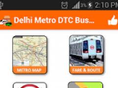 Delhi Metro Map Fare Route Dtc Bus Free Download
