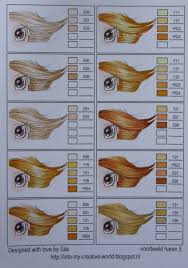 Copic Hair Color Chart Copic Coloring Chart Hair 05 From Iwona Plamountain