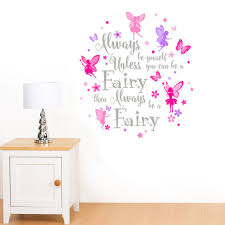 Rubybloom Designs Always Be Yourself Fairy Flower Star Girls Quote Wall