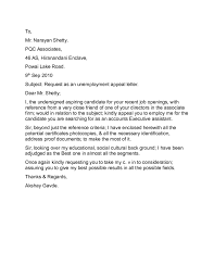 Unemployment Letter Of Appeal Airp Digimerge Net
