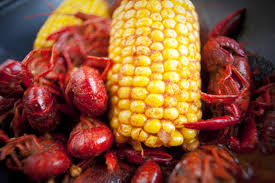 to enlarge chris duffey corn on the cob and crayfish arrive together in a bag covered