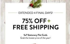 if you are on top of it and ready to get those holiday cards printed then snag this deal from snapfish through october 10th you can get 75 off and