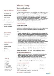 Systems Engineer Resume Example Sample It Security Future