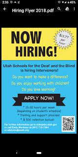 For My Utah Friends Looking For Jobs Deaf