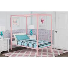 DHP Modern Metal Canopy Twin Size Bed Frame in Pink-4073719 - The ...