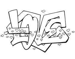 Valentijn Kleurplaten Graffiti Love Uploaded By Kimberly