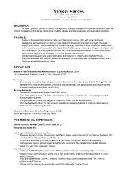 Sanjeev Randev Resume Electrical Engineer MBA40 Impressive Electrical Engineering Resume