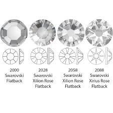 Swarovski 2088 Xirius Rose Flat Back Crystal Ab Ss34