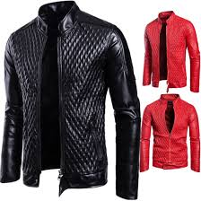 Us 39 6 40 Off 2018 Autumn New Style Men Motorcycle Leather Jackets Men Red Fashion Leather Coat Mens Slim Leather Jacket Coat Men S Xxxl In Faux