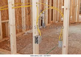 wiring electrical house stock photos & wiring electrical house Home Wiring Receptacle electrical wiring to receptacle boxes in a new home under construction stock image mobile home receptacle wiring diagram