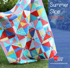 Summer Slice Tutorial | Cluck Cluck Sew & You'd never know it at first glance but this is SUCH an easy quilt to  make…my favorite kind. This is a beginner friendly quilt, but I would  recommend having ... Adamdwight.com