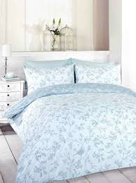 signature home french bird toile duvet cover set with matching pillowcases blue double co uk kitchen home