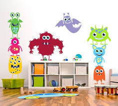 Nursery Children Wall Decal Monsters Inc Kids Wall By ArtHomeDecal, $78.00