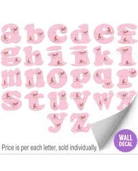 ballerina ballet slippers alphabet letters name wall stickers