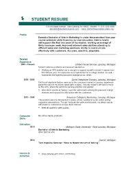 Resume Template Word 36 Student Resume Templates Pdf Doc Free