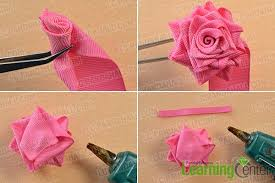 How To Make A Paper Ribbon Flower How To Make Rose Flower Dangle Earrings With Grosgrain Ribbon