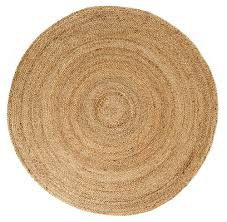 tan round jute rug