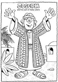 Colossal Coloring Pages Joseph And The Coat Of Many Colors Page