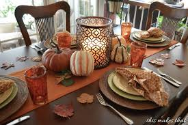 thanksgiving table setting from the side of table this makes that