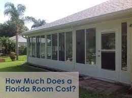 sunroom florida room cost