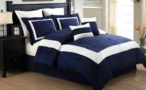 navy and white comforter set piece queen embroidered polka dot