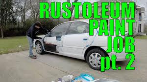 diy car projects rustoleum paint job pt 2