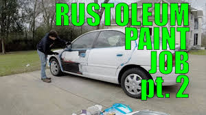 diy car projects rustoleum paint job pt 2