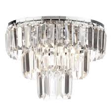 ceiling light chrome glass fast free delivery