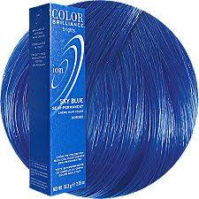 Ion Color Brilliance Semi Permanent Color Chart Sky Blue Semi Permanent Hair Color Semi Permanent Hair