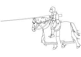 Kleurplaat Ridder Te Paard Afb 9476 Images