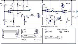 door handle alarm electronic circuits and diagram electronics door handle alarm circuit jpg