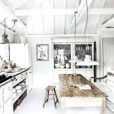 Beach Kitchen Design White Washed House Modern Picturesque