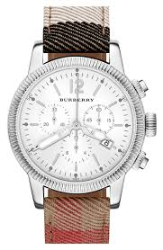 burberry chronograph check strap watch 42mm nordstrom