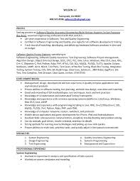 Sample Resume Software Test Engineer Experience Format Network