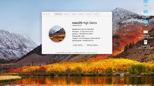 update to macos high sierra