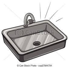 kitchen sink clipart black and white. a kitchen sink - csp27844704 clipart black and white t