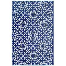 san juan reversible indoor outdoor rug 120x179cm blue