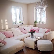 Schönheit Schöne Dekoration Wohnzimmer Landhaus Weiß Pinke Deko