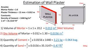 Cement Density Chart Plaster Work Estimation Cement And Sand Ratio For