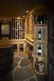 wine cellar furniture. Hillside Traditional Wine Cellar With Barrel Table By Rollin Fox, Sleeping Grape Cellars Furniture U